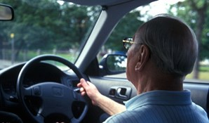 Picture of older man driving